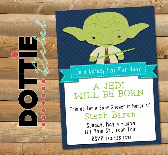 Star Wars Baby Shower Invitation Fresh Items Similar to Printable Star Wars Inspired Baby Yoda