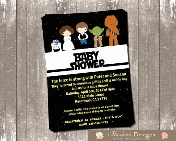 Star Wars Baby Shower Invitation Fresh Star Wars Baby Shower Invitation Digital File