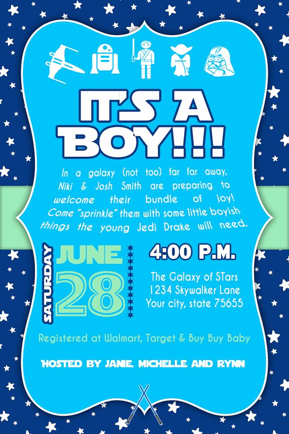 Star Wars Baby Shower Invitation Lovely 8 Best Space themed Party Printables Images On Pinterest