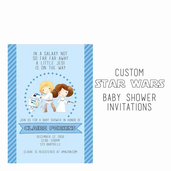 Star Wars Baby Shower Invitation New Star Wars Baby Shower Invitiation Custom Star Wars Party