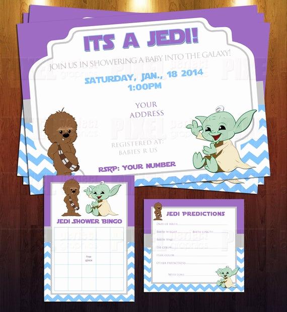 Star Wars Baby Shower Invitation Unique Jedi Star Wars theme Baby Shower Invite by