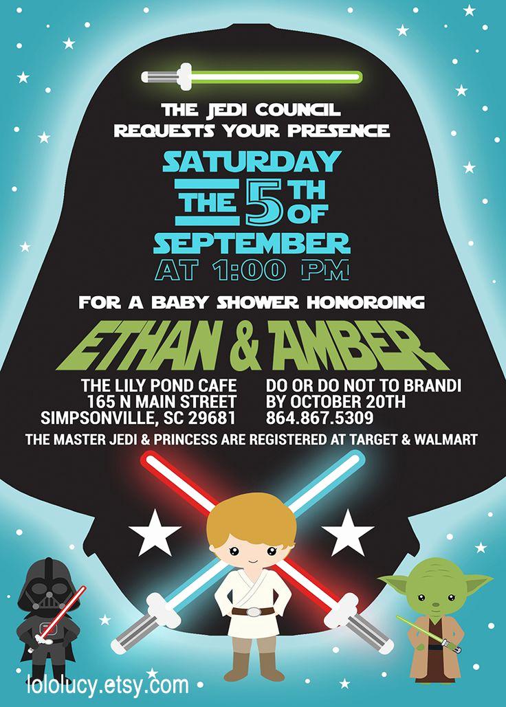 Star Wars Baby Shower Invitation Unique Meer Dan 1000 Ideeën Over Star Wars Invitations Op