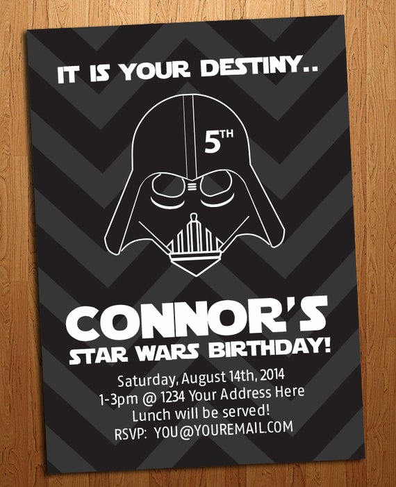 Star Wars Birthday Invitation Best Of Star Wars Birthday Party Invitation