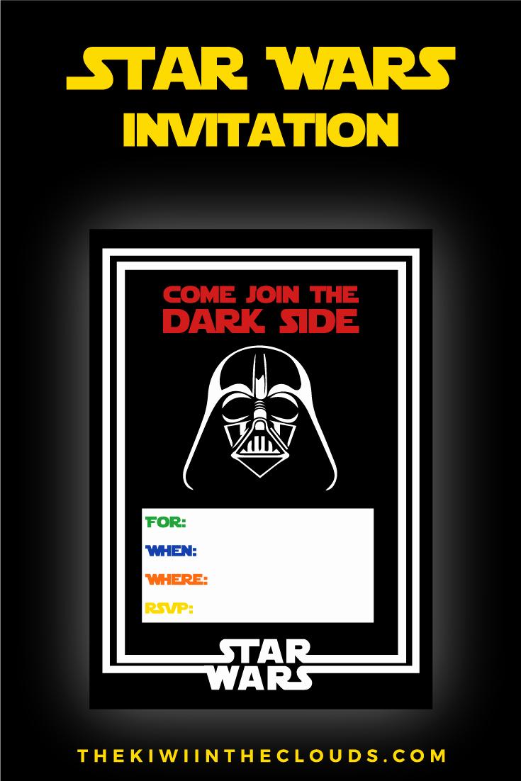 Star Wars Birthday Invitation Fresh Star Wars Party Printables A No Stress Way to A Galactic