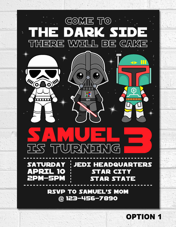 Star Wars Birthday Invitation Inspirational Star Wars Invitation Star Wars Birthday Invitation Darth