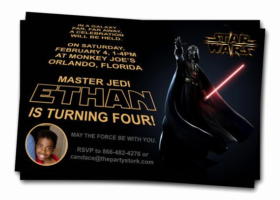 Star Wars Birthday Invitation Lovely Star Wars Invitations Printable Darth Vader Boy by