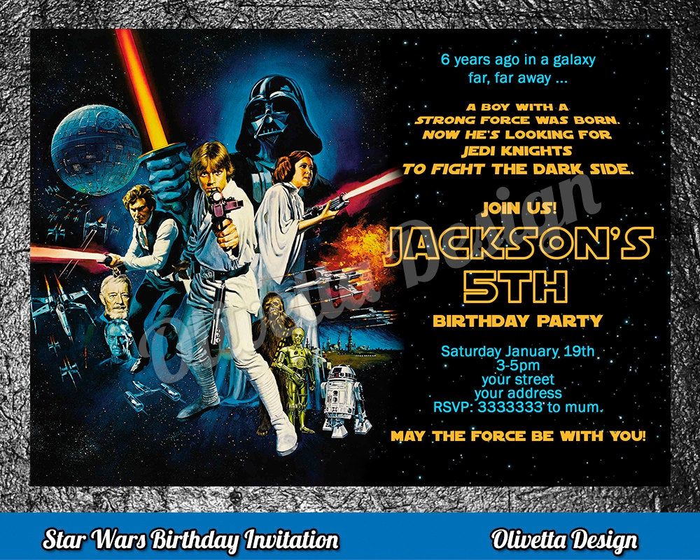 Star Wars Birthday Invitation Luxury Star Wars Birthday Invitation Star Wars Invitation Birthday