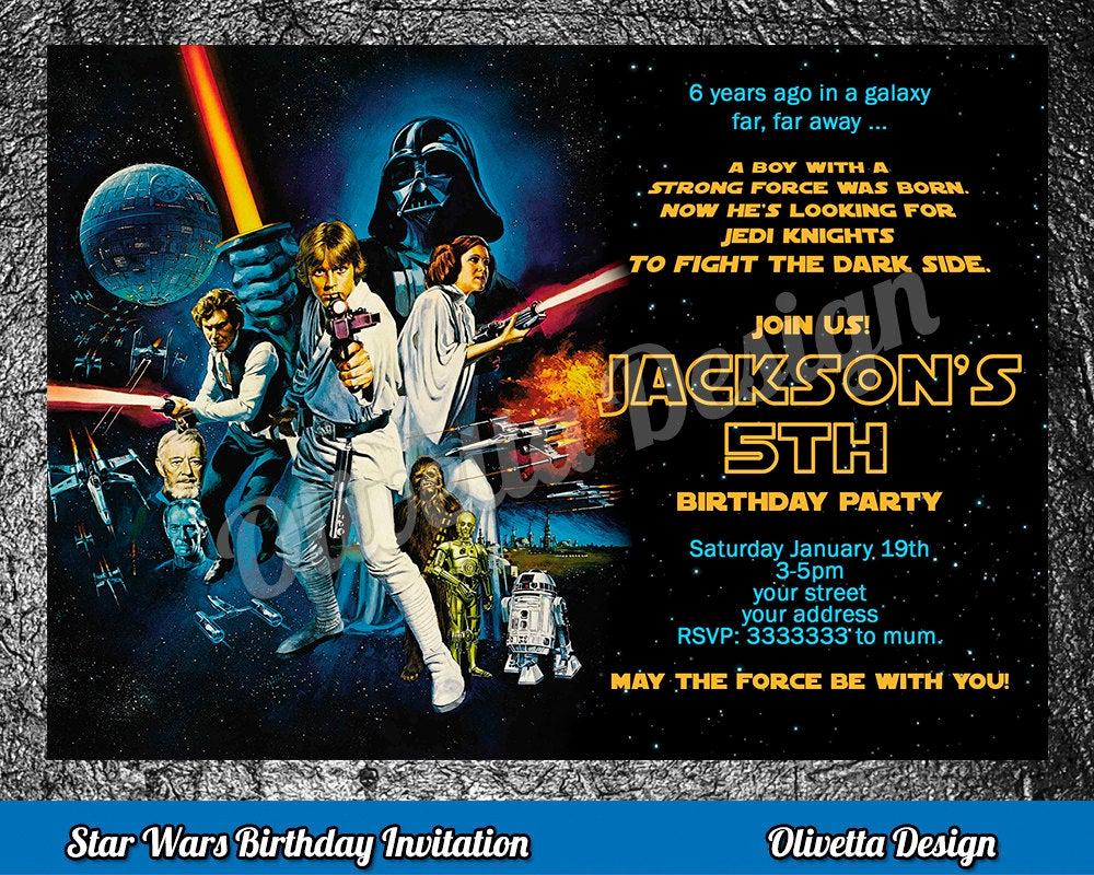 Star Wars Birthday Invitation Luxury Star Wars Birthday Invitation Star Wars Invitation Birthday