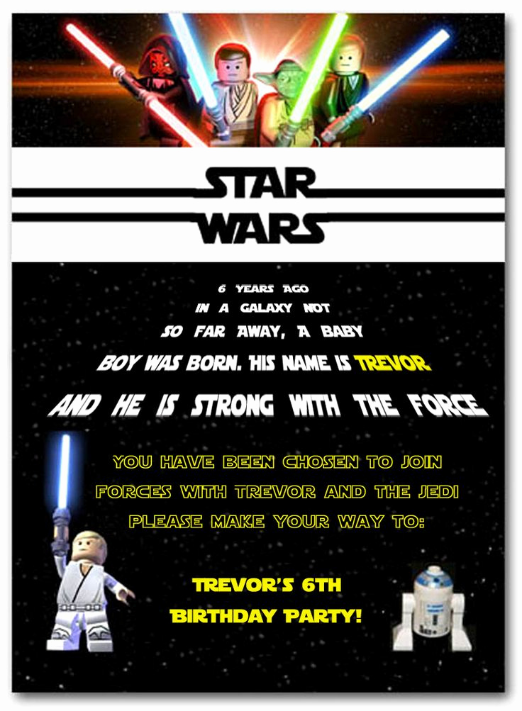 Star Wars Birthday Invitation New 25 Best Ideas About Star Wars Invitations On Pinterest