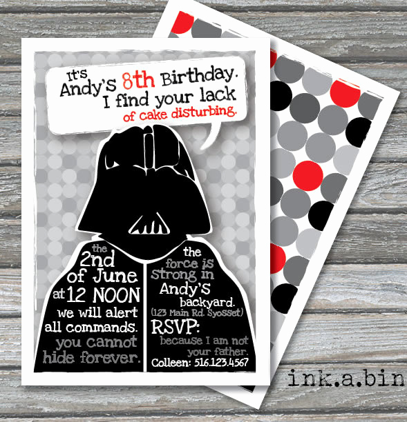 Star Wars Birthday Invitation New Star Wars Birthday Party Ideas by A Professional Party