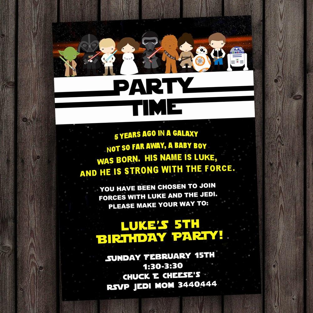Star Wars Birthday Invitation Template Beautiful Star Wars Invitation the force Awakens Invitation Star Wars
