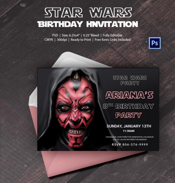 Star Wars Birthday Invitation Template Inspirational 23 Star Wars Birthday Invitation Templates – Free Sample