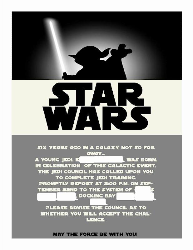 Star Wars Birthday Invitation Template Inspirational Star Wars Invitations Template Google Search