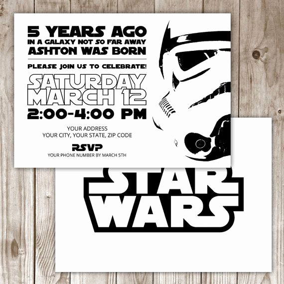 Star Wars Birthday Invitation Template Lovely 17 Best Ideas About Star Wars Invitations On Pinterest