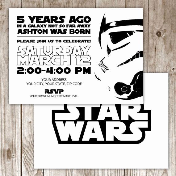 Star Wars Birthday Invitation Template Lovely 17 Best Ideas About Star Wars Invitations On Pinterest