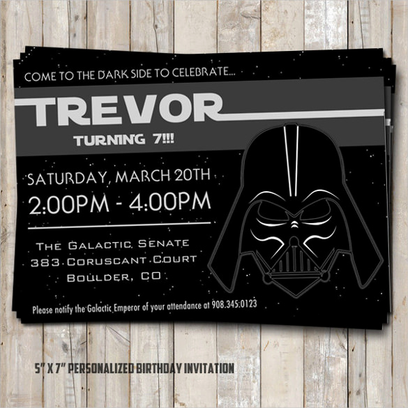 Star Wars Birthday Invitation Template Luxury 20 Star Wars Birthday Invitation Template Word Psd