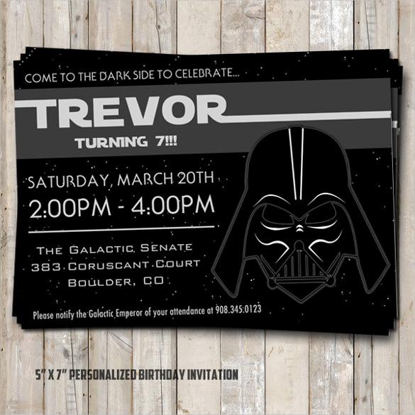 Star Wars Birthday Invitation Template Luxury 20 Star Wars Birthday Invitation Template Word Psd