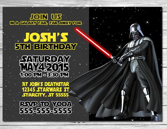 Star Wars Birthday Invitation Template New 11 Star Wars Birthday Party Invitations Psd Vector Eps