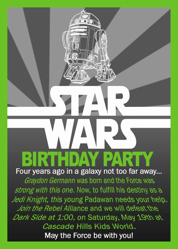 Star Wars Birthday Invitation Template Unique Star Wars Birthday Invitation $10 00 Via Etsy