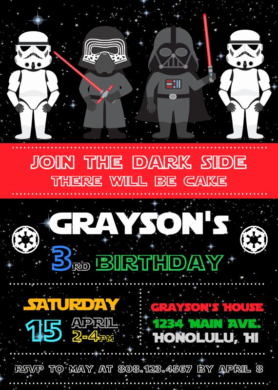 Star Wars Birthday Invitation Unique 25 Best Ideas About Star Wars Invitations On Pinterest