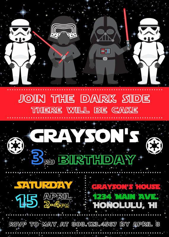 Star Wars Birthday Invitation Unique 25 Best Ideas About Star Wars Invitations On Pinterest