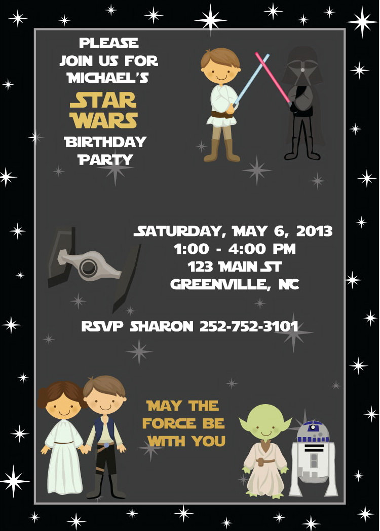Star Wars Birthday Invitation Unique Star Wars Birthday Invitation Kids Birthday Party