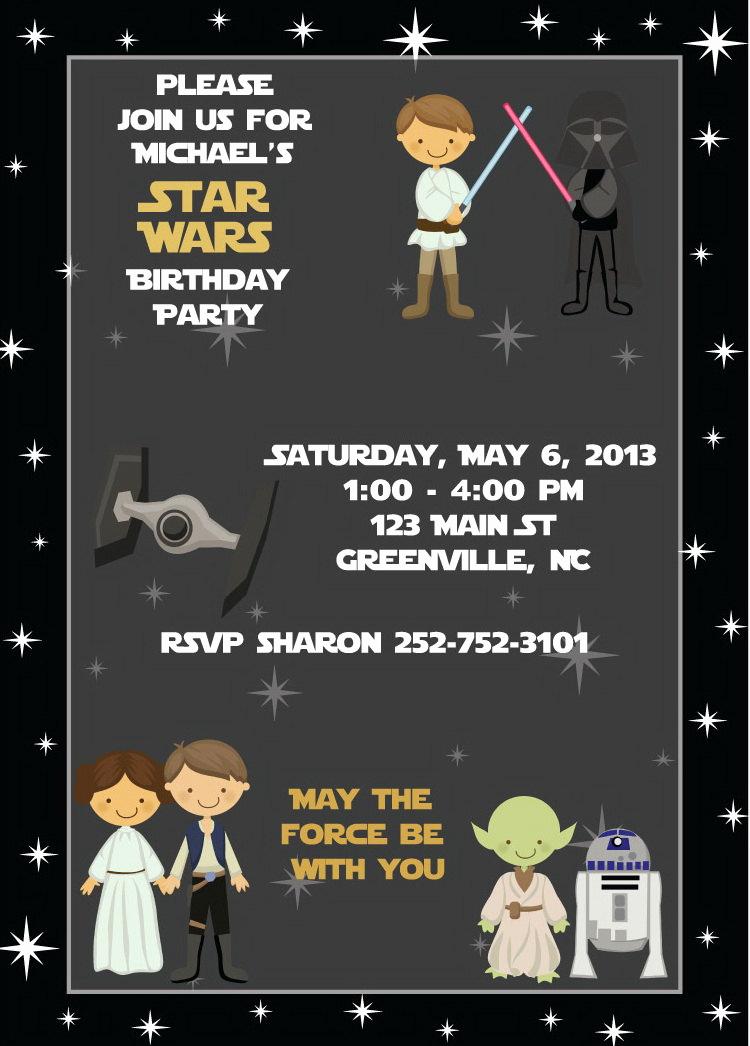 Star Wars Birthday Invitation Unique Star Wars Birthday Invitation Kids Birthday Party