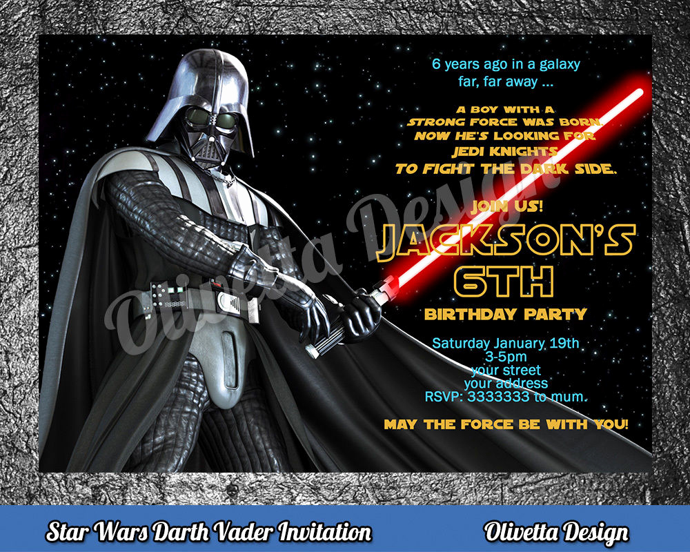 Star Wars Birthday Invitation Unique Star Wars Birthday Invitation Personalized You Print
