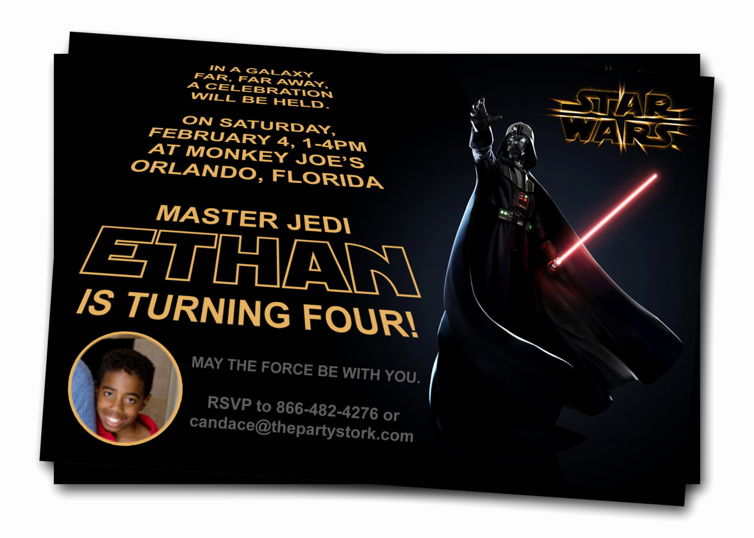 star wars invitations printable darth