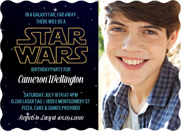 Star Wars Birthday Invitation Wording Inspirational Star Wars Birthday Party Ideas Invitations Activities