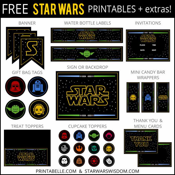Star Wars Invitation Printable Free Beautiful Free Star Wars Party Printables and More – Printabelle