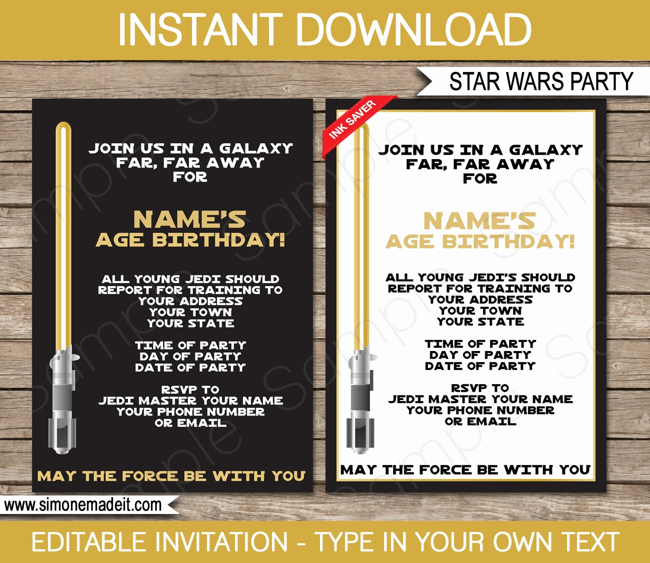 Star Wars Invitation Printable Free Beautiful Star Wars Invitation Template Gold Birthday Party