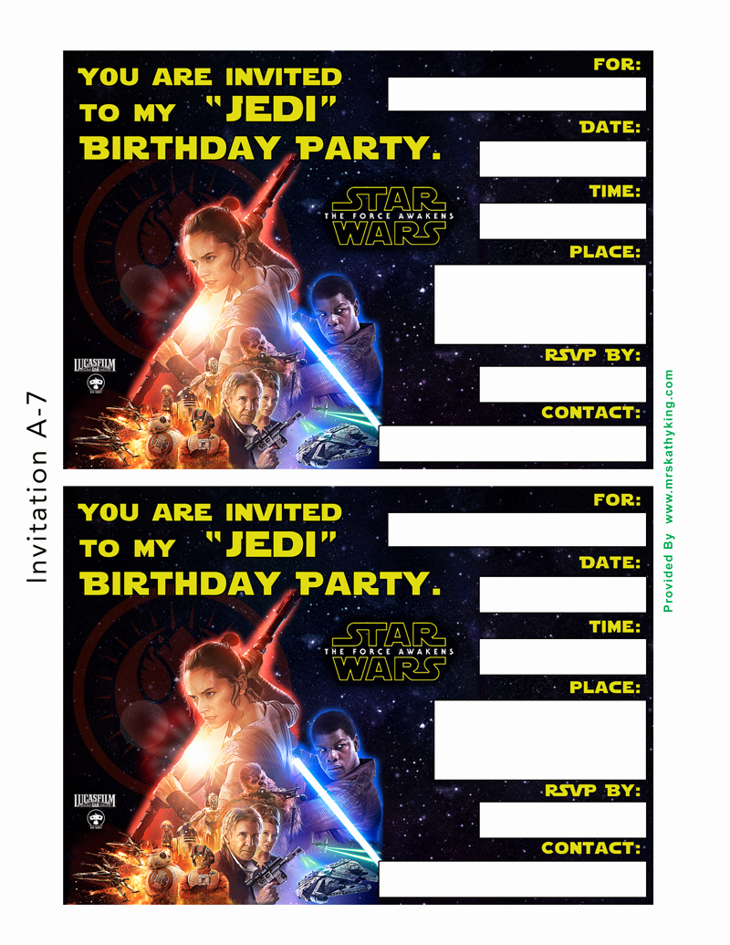 Star Wars Invitation Printable Free Best Of Free Star Wars the force Awakens Printable Party