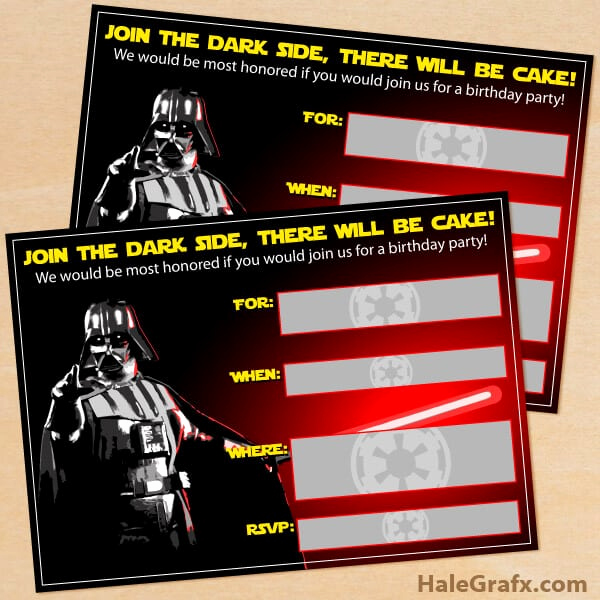 Star Wars Invitation Printable Free Inspirational the Best Star Wars Party Ideas Happiness is Homemade