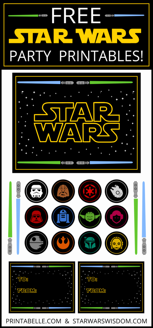 Star Wars Invitation Printable Free New Free Star Wars Party Printables Extras – Free Party