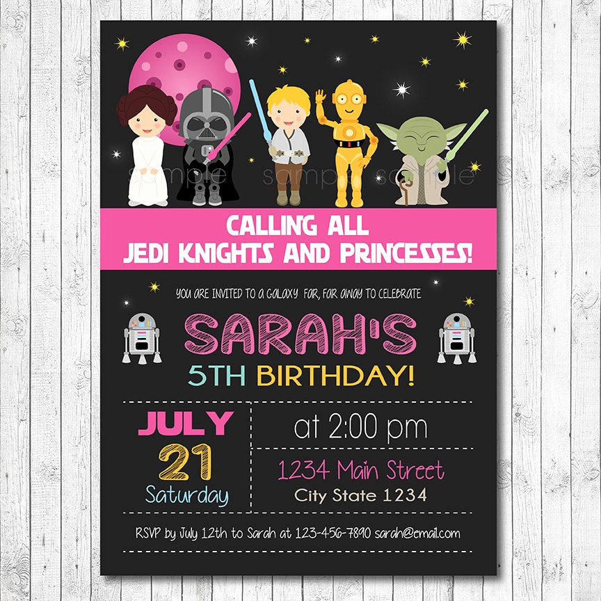 Star Wars Invitation Printable Free Unique Star Wars Birthday Invitation Star Wars Invite Star Wars