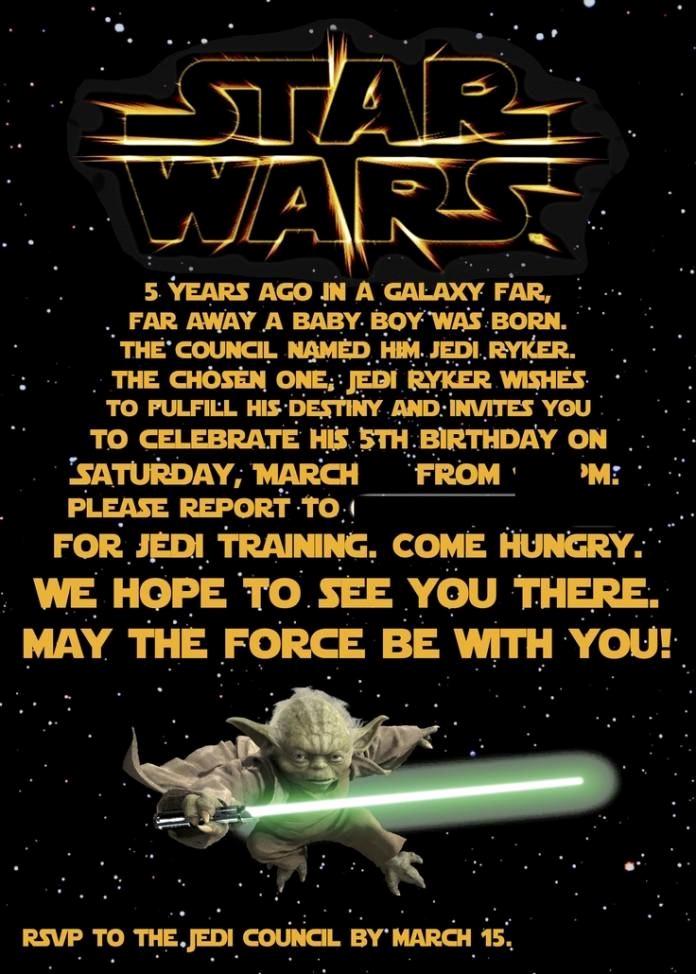 Star Wars Invitation Template Elegant Free Printable Star Wars Birthday Invitations