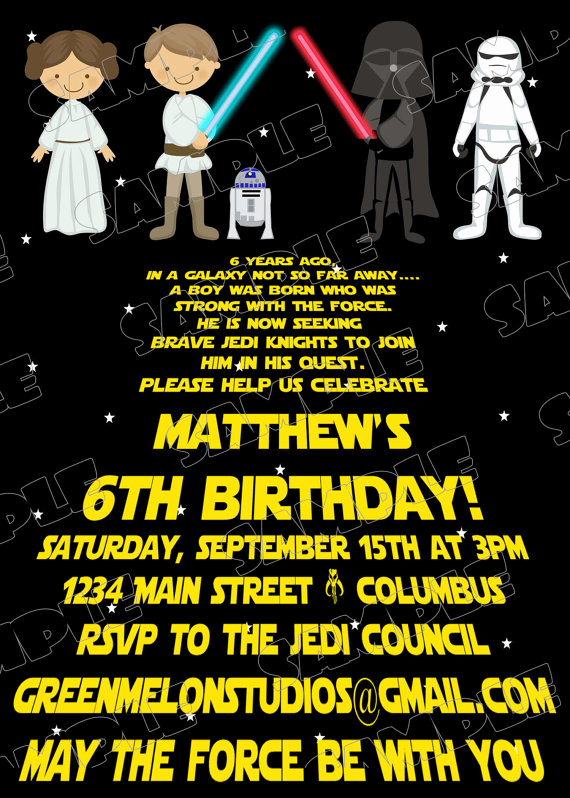 Star Wars Invitation Template Free Awesome Star Wars Birthday Invitations Ideas for Kids – Bagvania