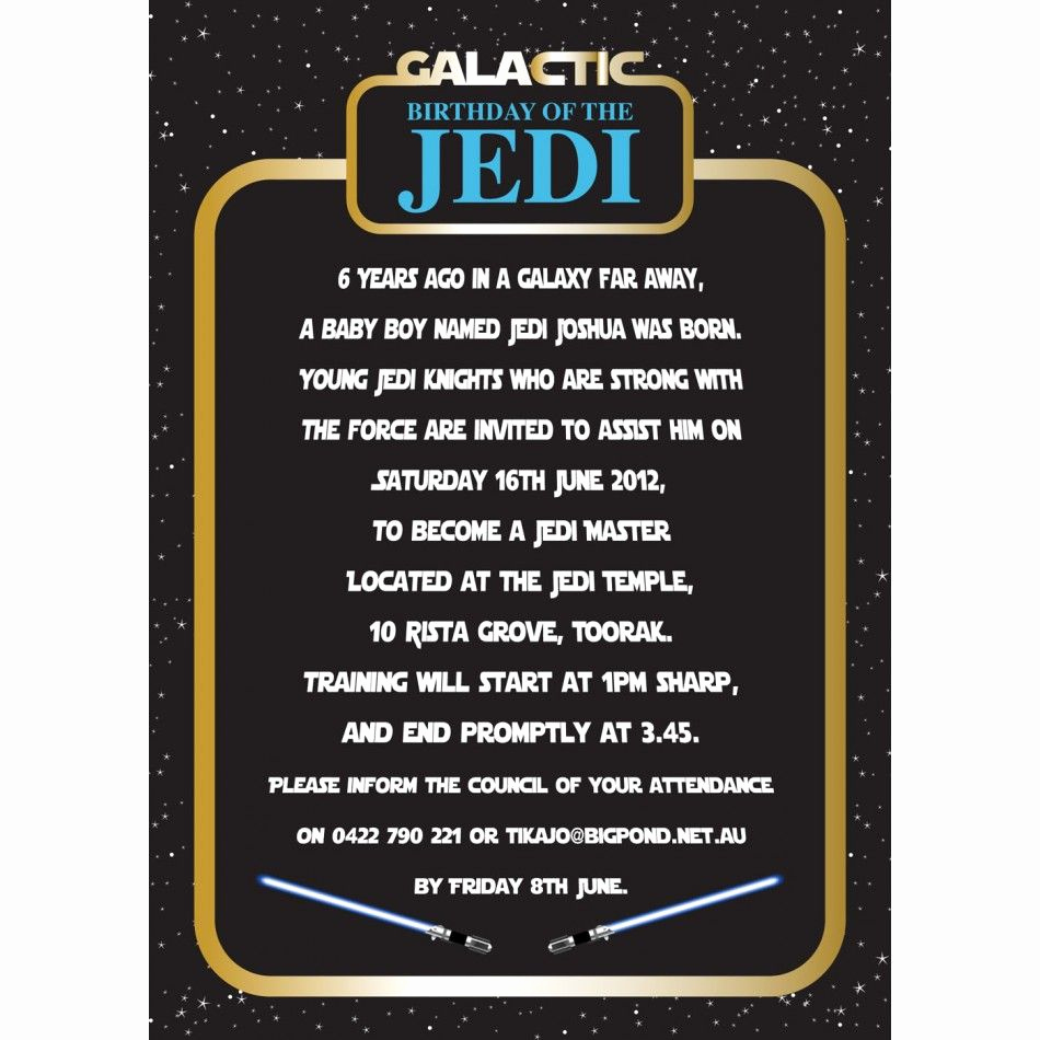 Star Wars Invitation Template Free Elegant Invitation Star Wars