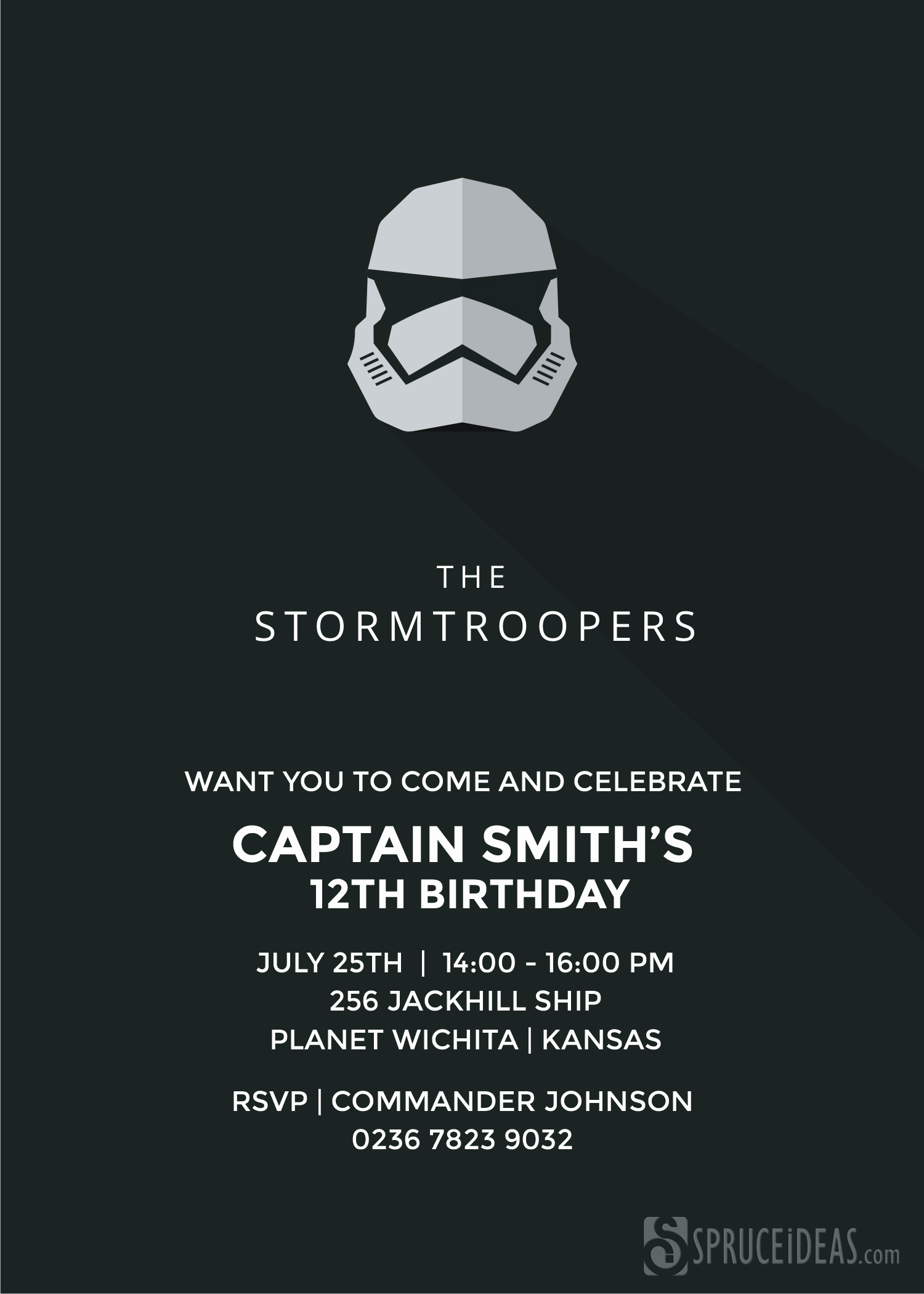 Star Wars Invitation Template Free Inspirational Star Wars Stormtrooper Birthday Invitation Template Card
