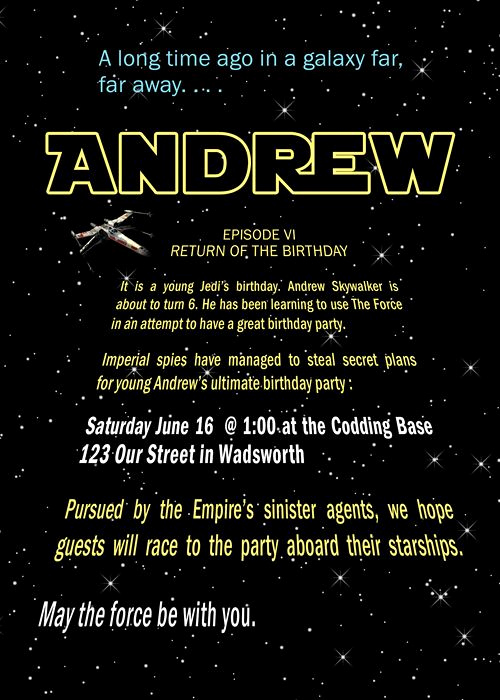 Star Wars Invitation Template Free Luxury Best 25 Star Wars Invitations Ideas On Pinterest