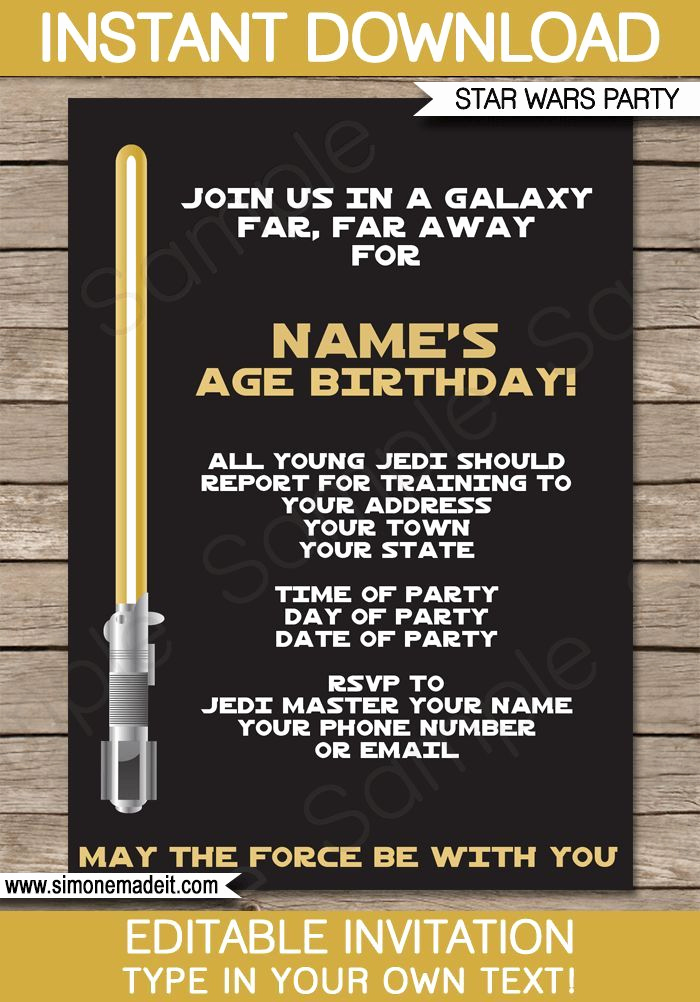Star Wars Invitation Template Free New 548 Besten Motto Star Wars