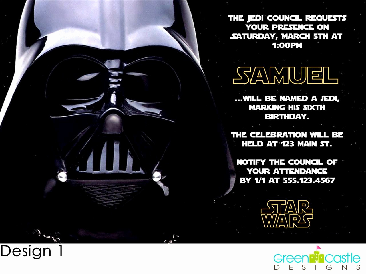 Star Wars Invitation Template Free New Free Star Wars Birthday Party Invitations Templates