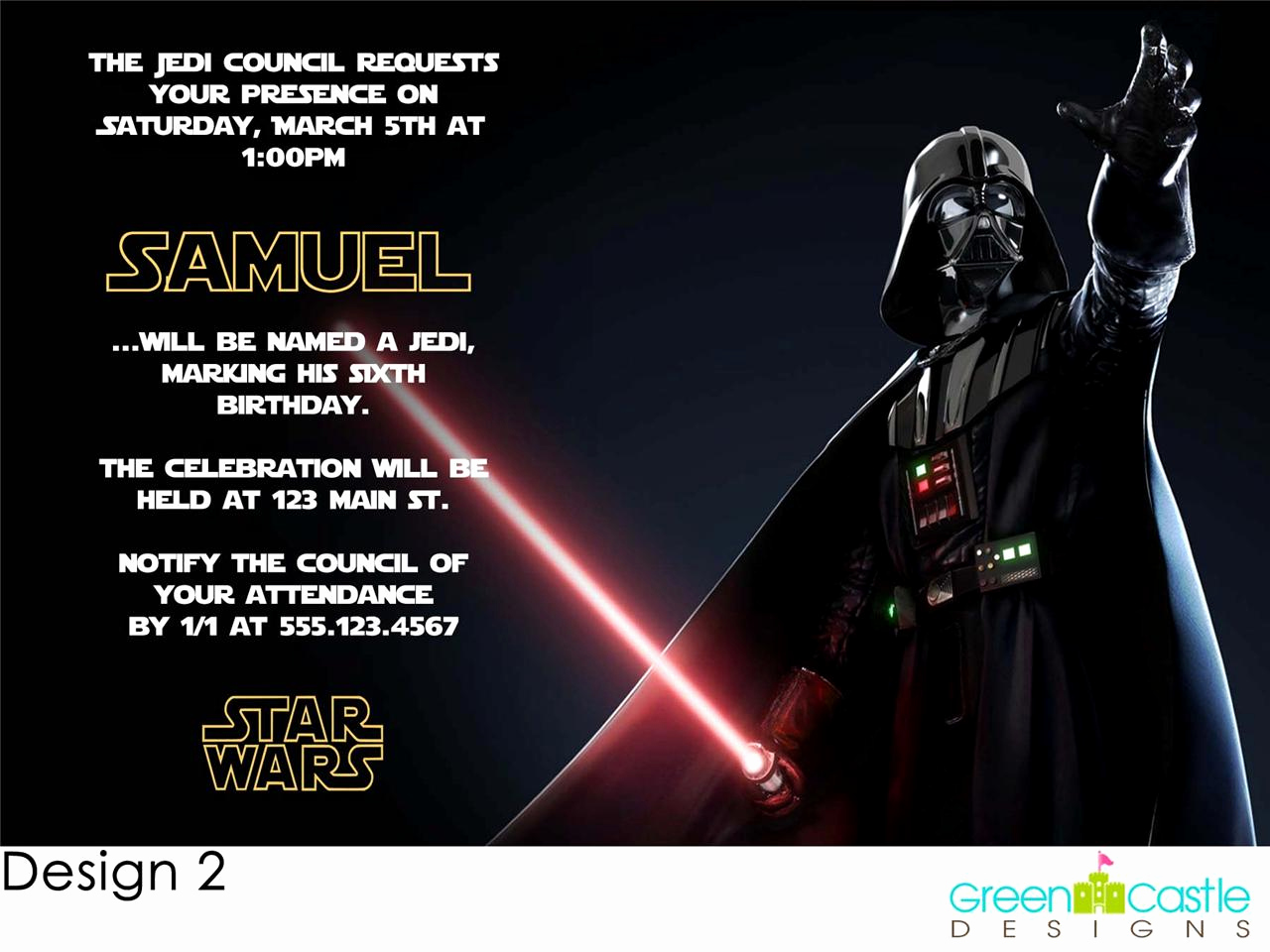 Star Wars Invitation Template Fresh Star Wars Birthday Party Invitations Templates