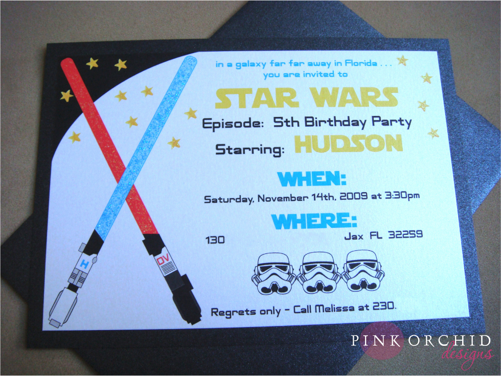 star wars birthday party invitations templates