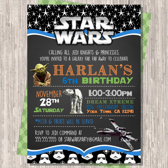 Star Wars Invitation Template New 20 Star Wars Birthday Invitation Template Word Psd