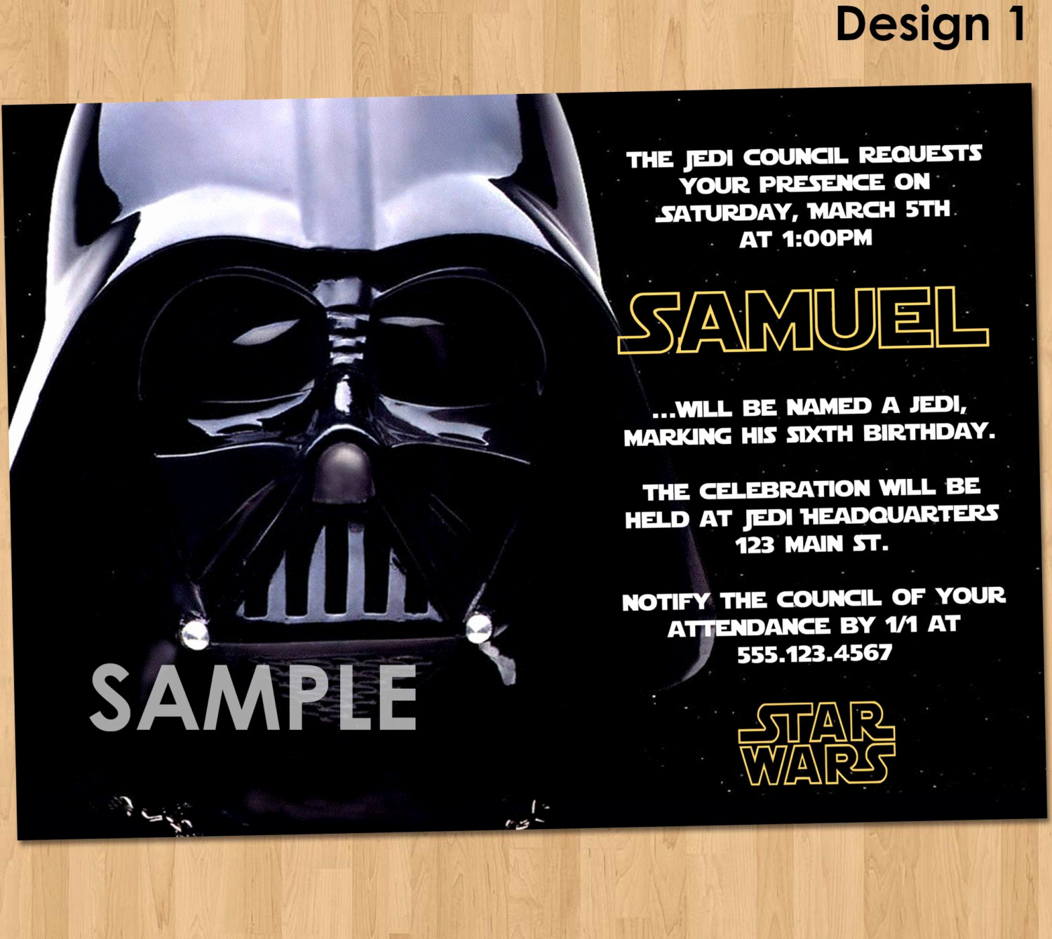 free star wars birthday invitations