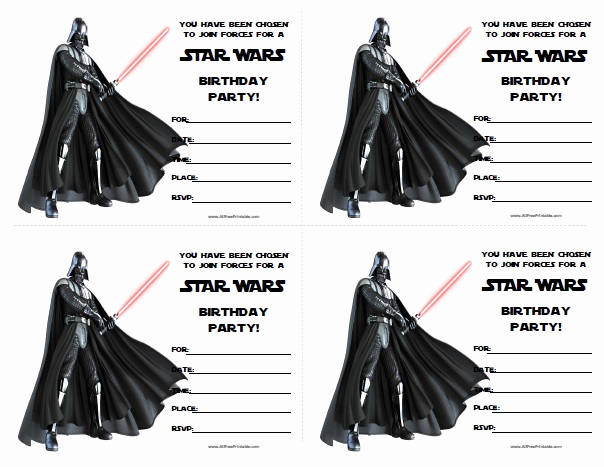 Star Wars Invitation Templates Free Beautiful Star Wars Birthday Invitations Free Printable