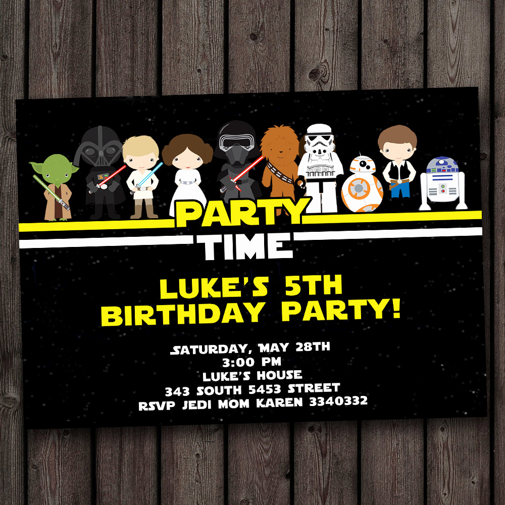 Star Wars Invitation Templates Free Elegant Free Star Wars Birthday Invitations – Free Printable