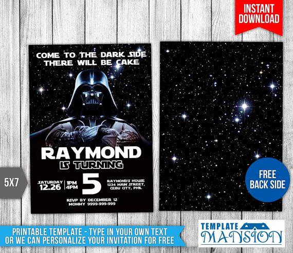 Star Wars Invitation Templates Free Inspirational Best 25 Star Wars Invitations Ideas On Pinterest